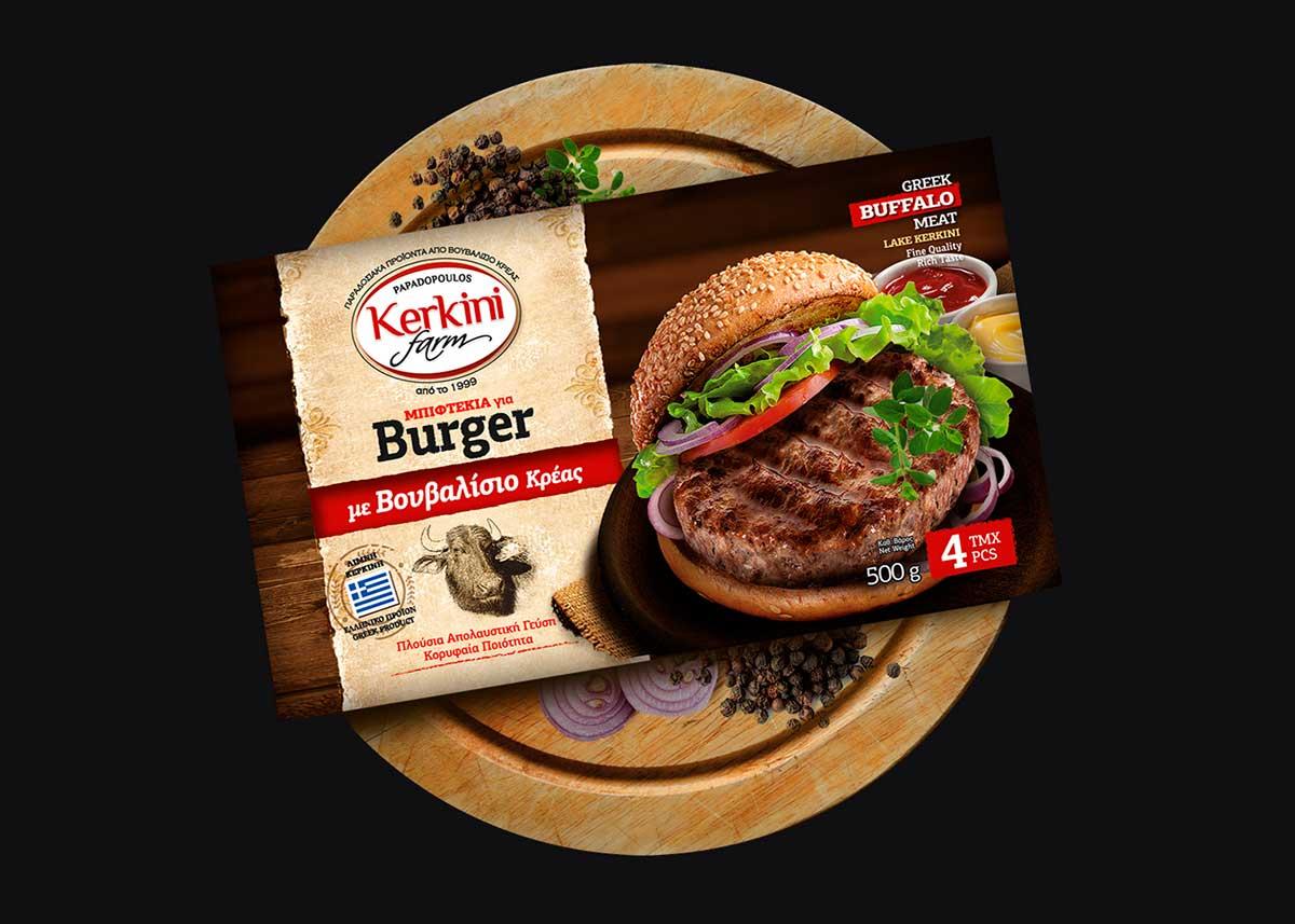 Burger µε Bουβαλίσιο Κρέας