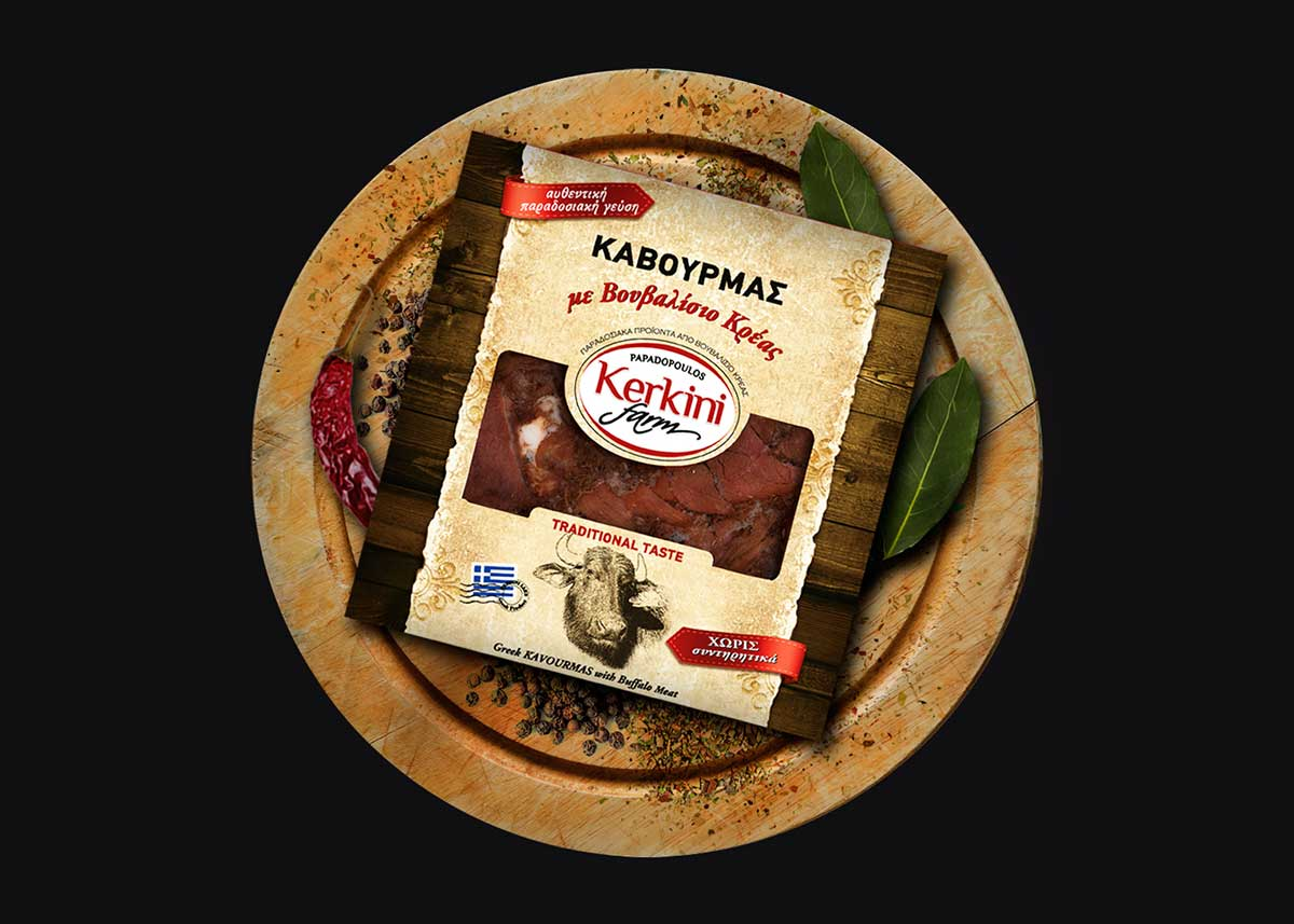Kαβουρµάς µε Bουβαλίσιο Κρέας